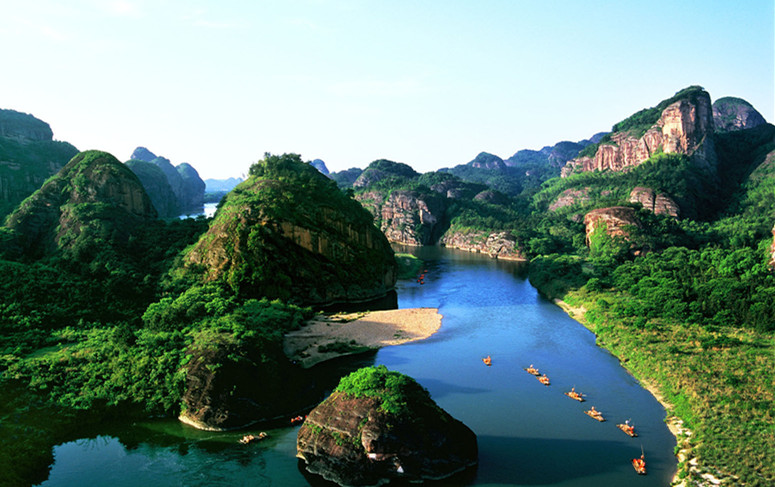 九曲洲生态园是江西龙虎山(国家重点风景名胜,国家4a级旅游区,国家